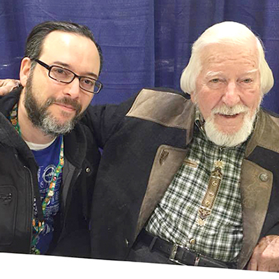 Here I am with the legendary puppeteer, Caroll Spinney at the 2017 Rhode Island Comic Con at the Rhode Island Convention Center in November.