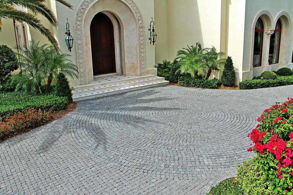 Tumbled Concrete Brick Paver Driveway Charleston SC