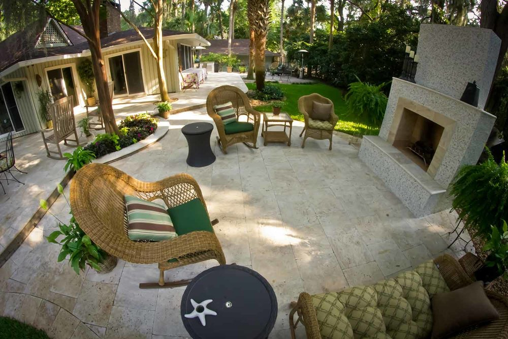 Natural Stone Patio Ideas Bluffton SC