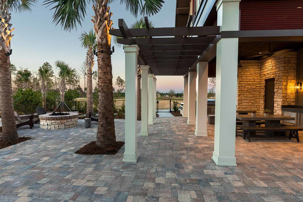 Large Paver Patio Installation Hilton Head Island SC