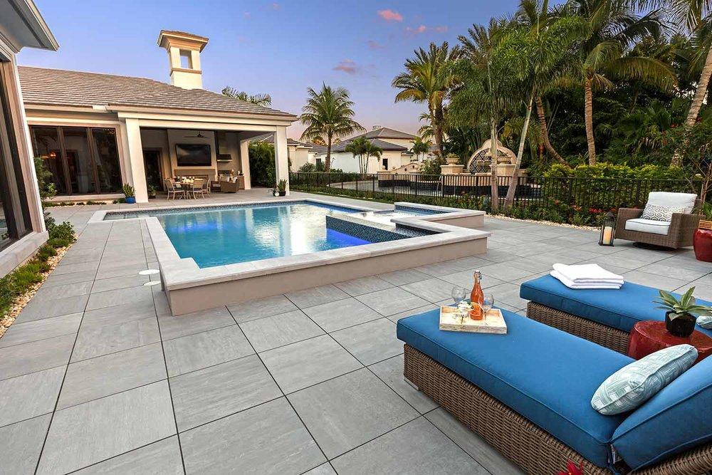 Porcelain Pool Deck Installation Hilton Head Island SC