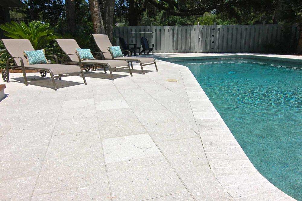 Pool Deck Stone Installation Hilton Head Island SC