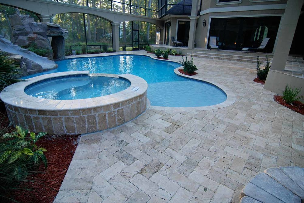 Pervious Pool Deck Paver Hilton Head Island SC