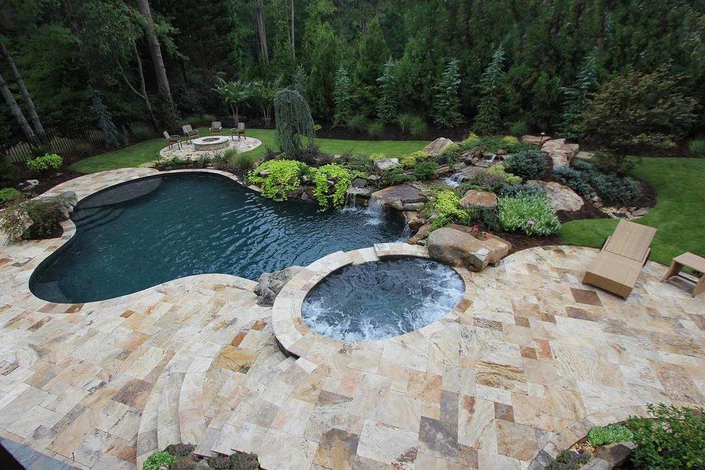 Travertine Pool Deck Installation Bluffton SC
