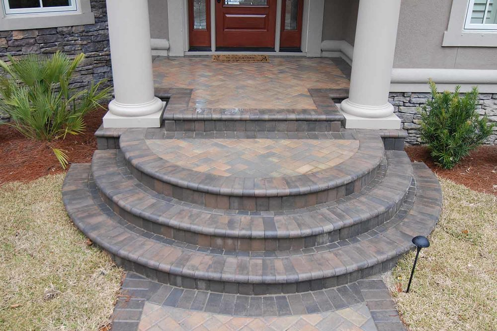 Brick Paver Step Designs Hilton Head Island SC