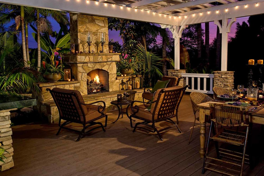 Outdoor Patio Fire Place Designs- Bluffton, SC