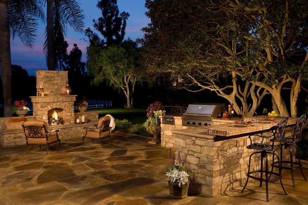 Paver Patio Outdoor Fireplace Contractor Hilton Head Island SC