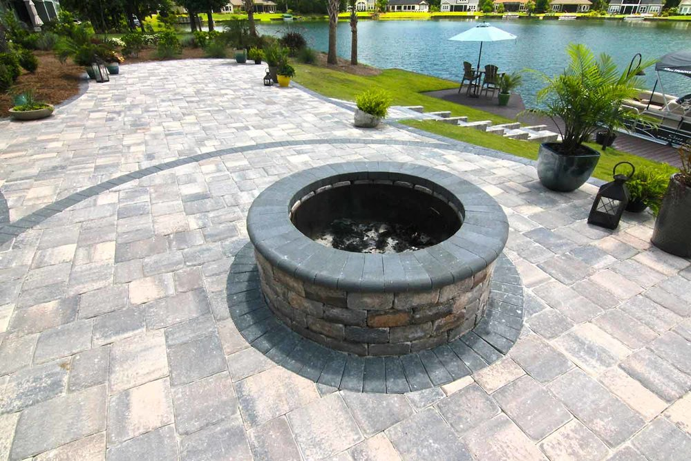 Brick Paver Patio Firepit Installers Hilton Head Island SC