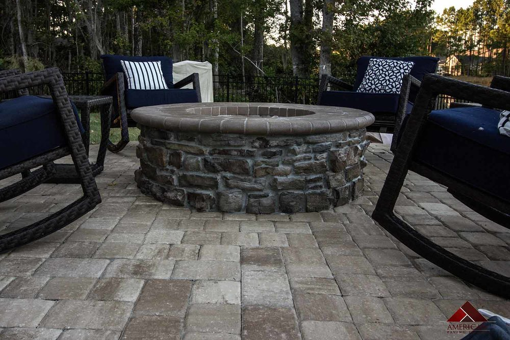 Stone Paver Fire Pit Designs Hilton Head Island Sc