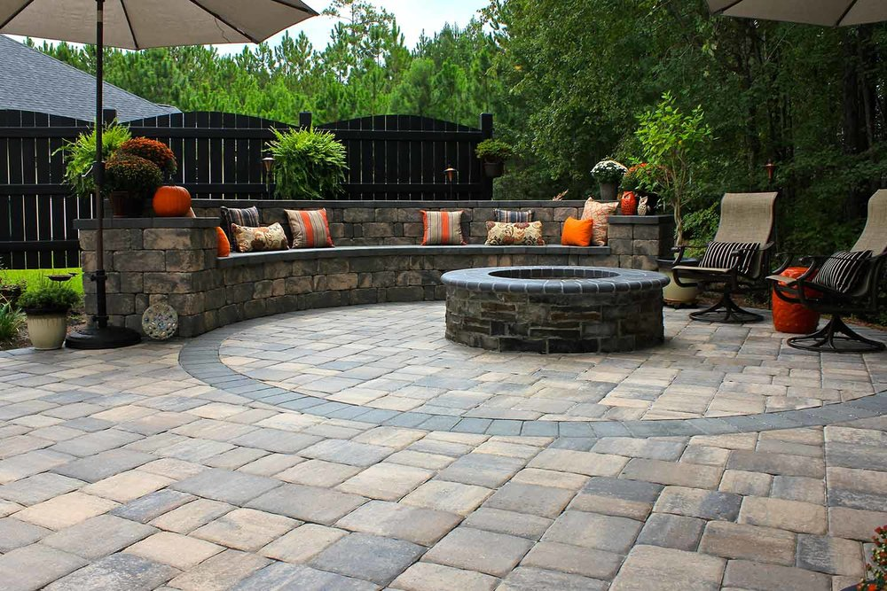 Paver Patio Retaining Wall Designs Bluffton SC
