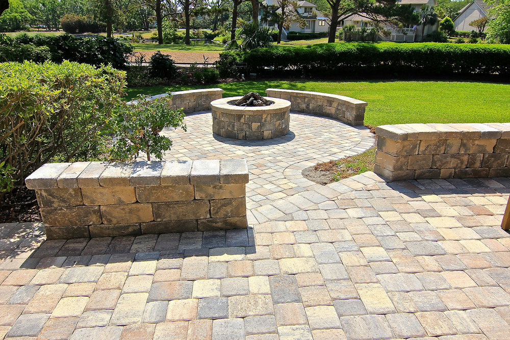 Block Built Paver Patio Ideas Hilton Head Island SC