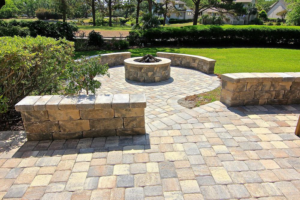 Block Built Paver Patio Ideas Hilton Head Island SC