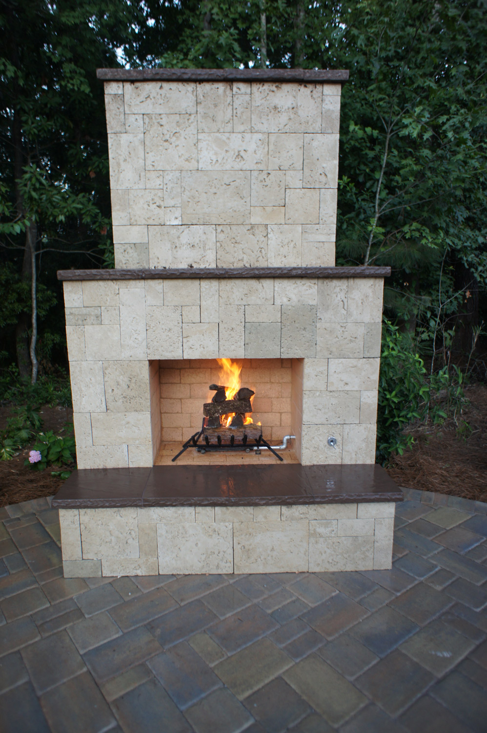 Tall Patio Fireplace Ideas Bluffton SC