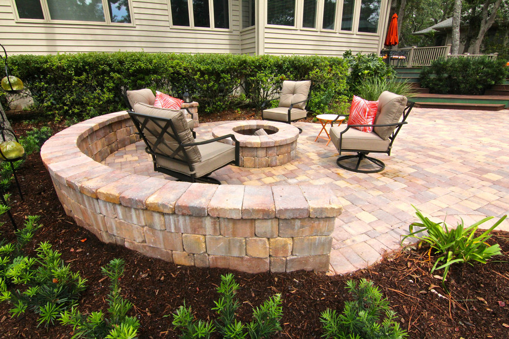 Patio area Retaining Wall Ideas Hilton Head Island SC