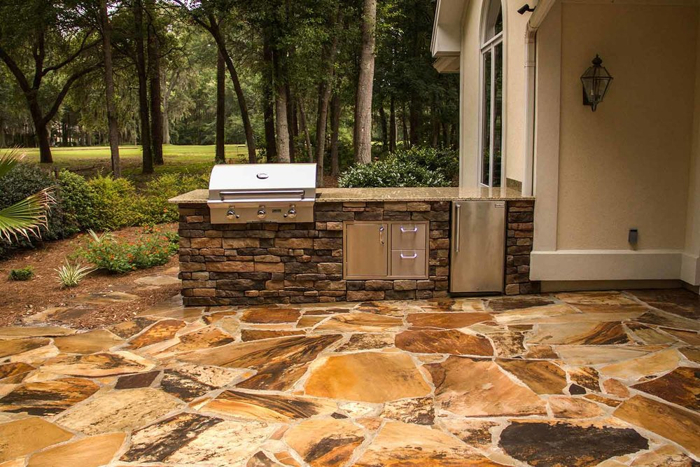 Stone Outdoor Kitchen Installation Contractor Hilton Head Island Sc