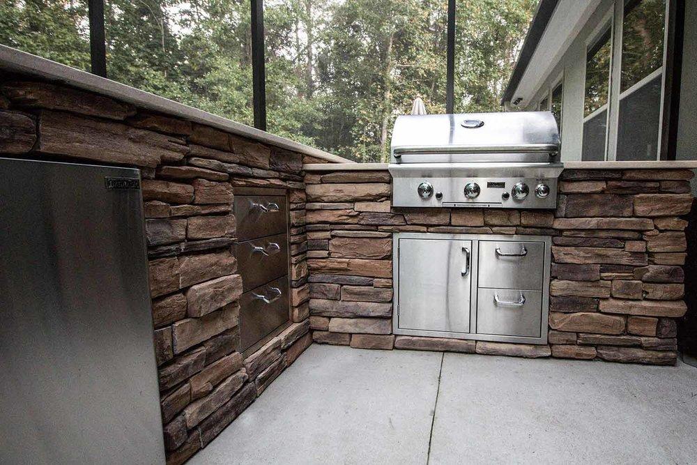 Custom Outdoor Kitchen Paver Installation Bluffton SC