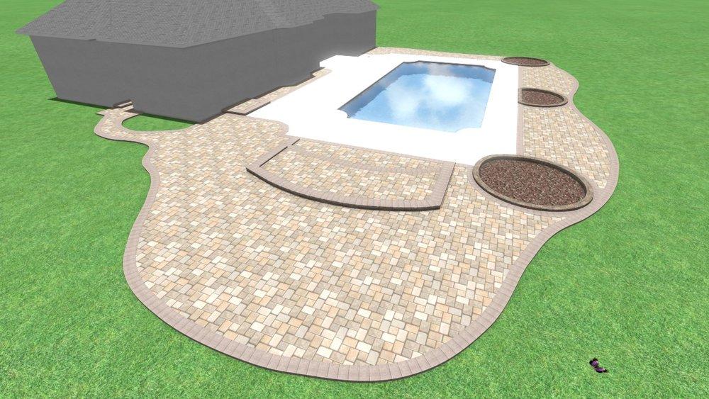 3d bluffton pool deck design