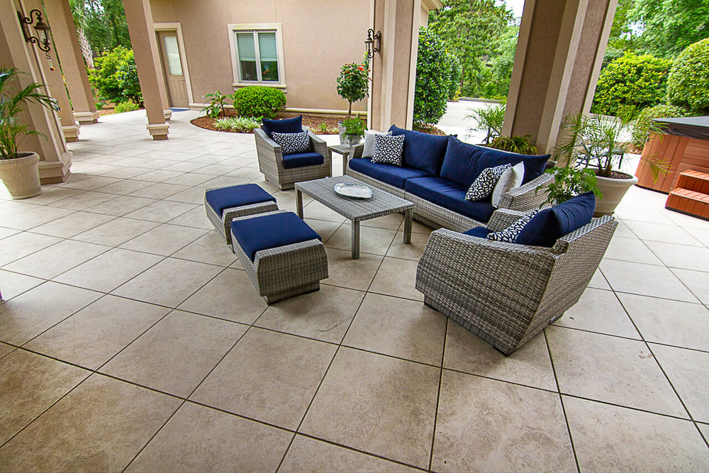 Porcelain Patio Design Hilton Head Island, SC