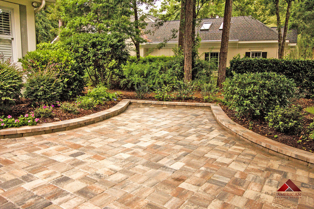 Adding Edging to your Paver Driveway Design - Hilton Head Island, SC