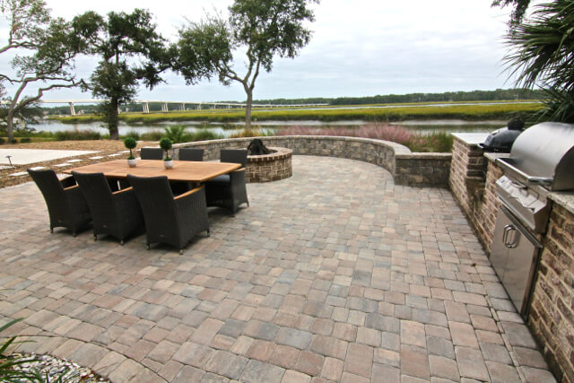 Brick Paver Patio Pictures - Hilton Head Island, South Carolina