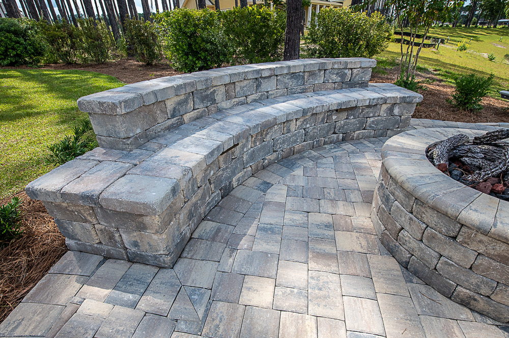 Seating Wall Designs using Brick Pavers