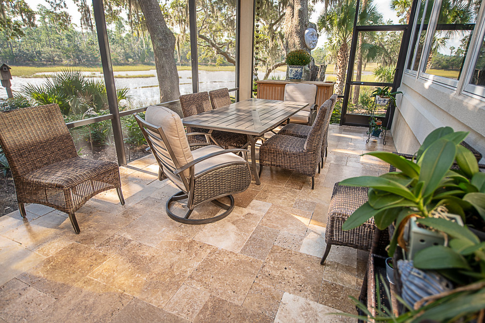 Travertine Lanai Design -