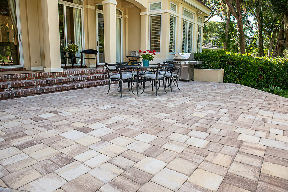 Thin Brick Paver Overlay Patio Pictures
