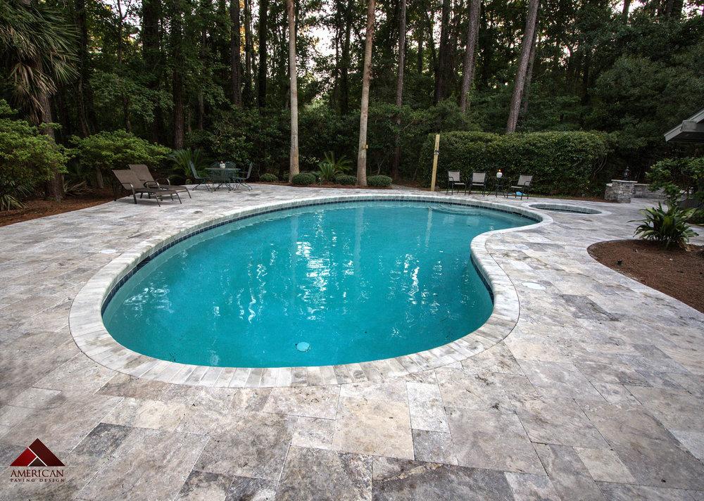 Travertine Remodel Pool Coping