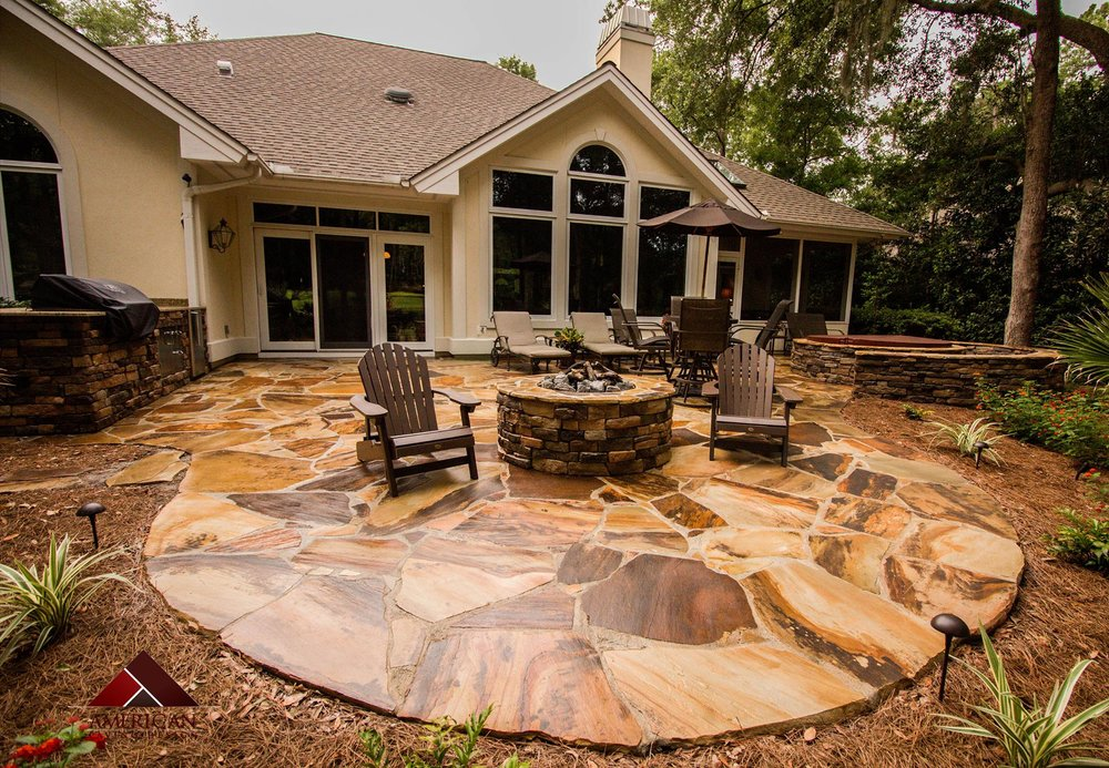 Flagstone Patio Installation Photo