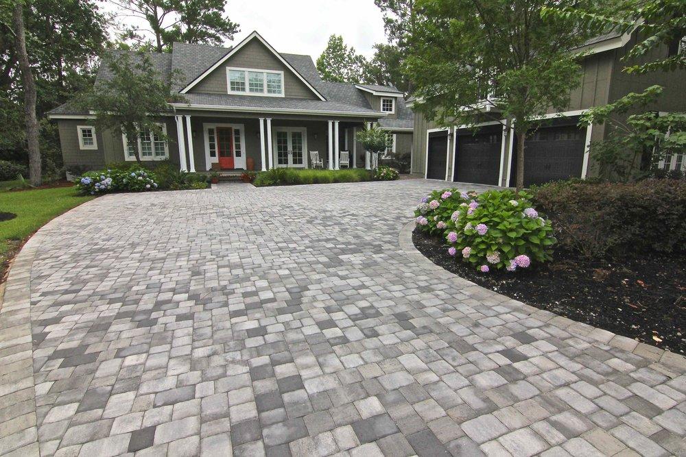 Grey Paver Driveway Design Hilton Head Island, SC
