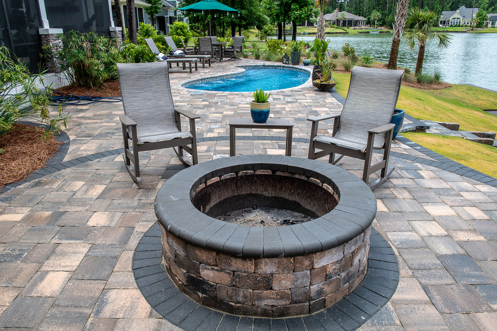 Paver Firepits and Patio Designs Bluffton, SC