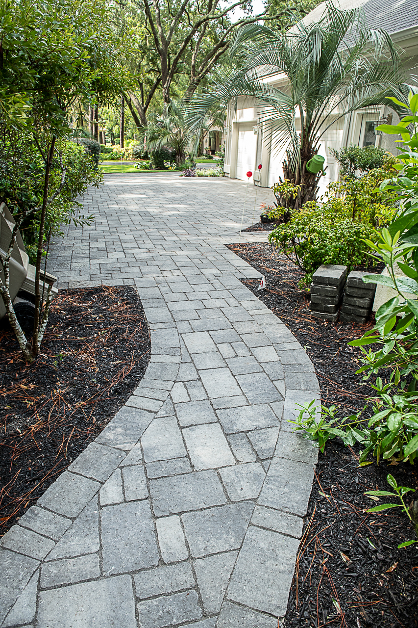 Grey Polysand  on Paver Walkways - Hilton Head Island, SC