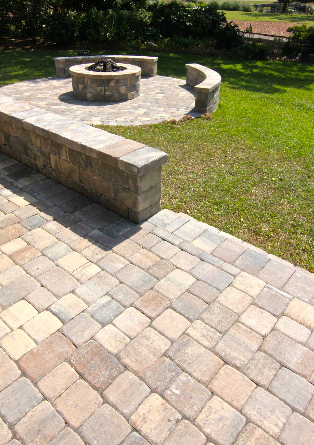 Retaining Wall Block Around Paver Patios Designs - Bluffton, SC