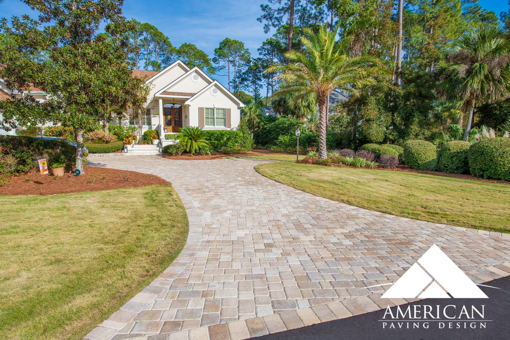 Choosing to use a    3pc Paver   , for your Paver Driveway project? This particular paver selection is the most commonly installed by American Paving Design. With sizes ranging from; 6x4, 6x6 and 6x9, a 3pc option is perfect for creating depth in any size driveway!