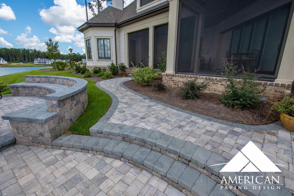 Raised Brick Paver Patio Design | Bluffton, SC