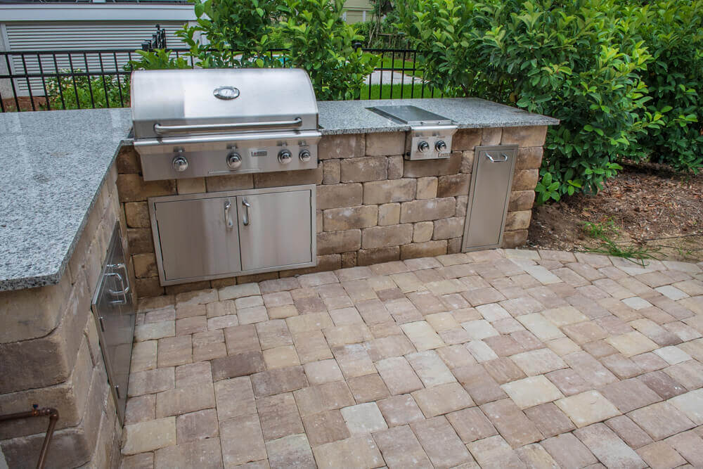 Built-In Brick Paver Kitchen- Savannah, GA