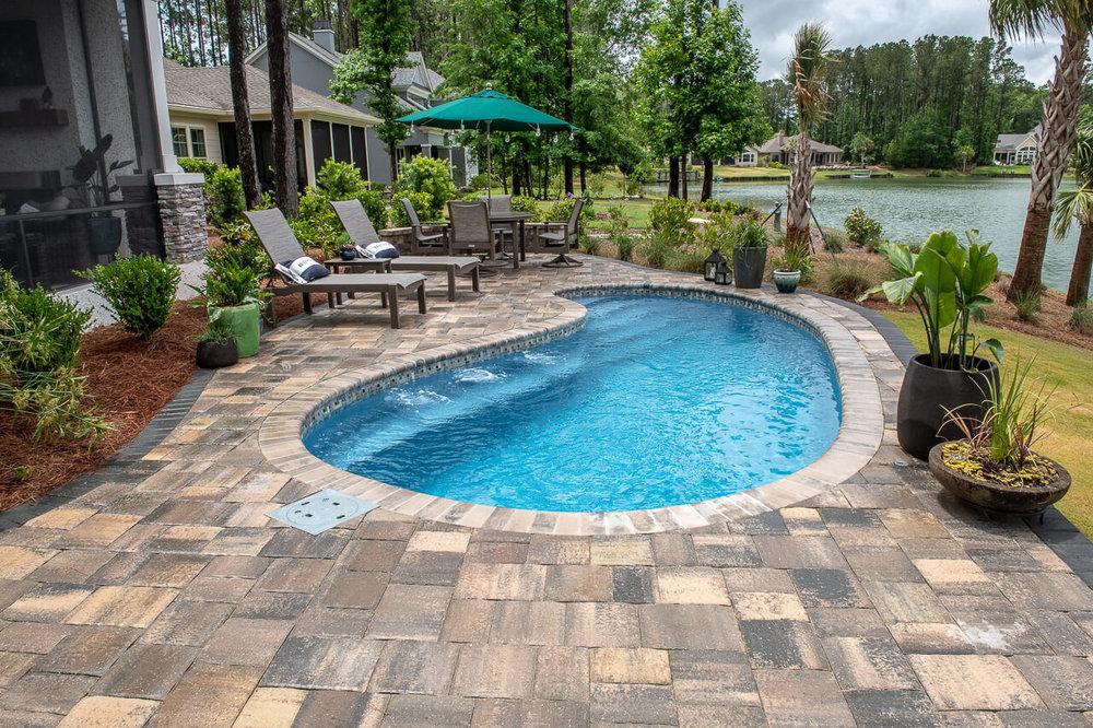 Paver Pool Deck Remodel Design