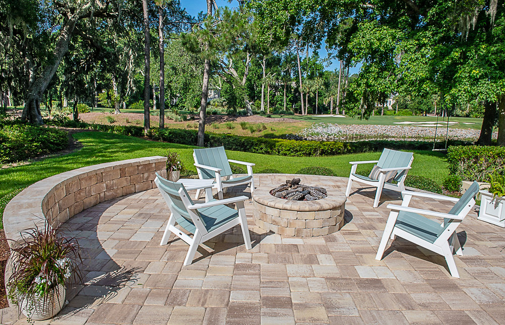 Thin Remodel Pavers On A Patio