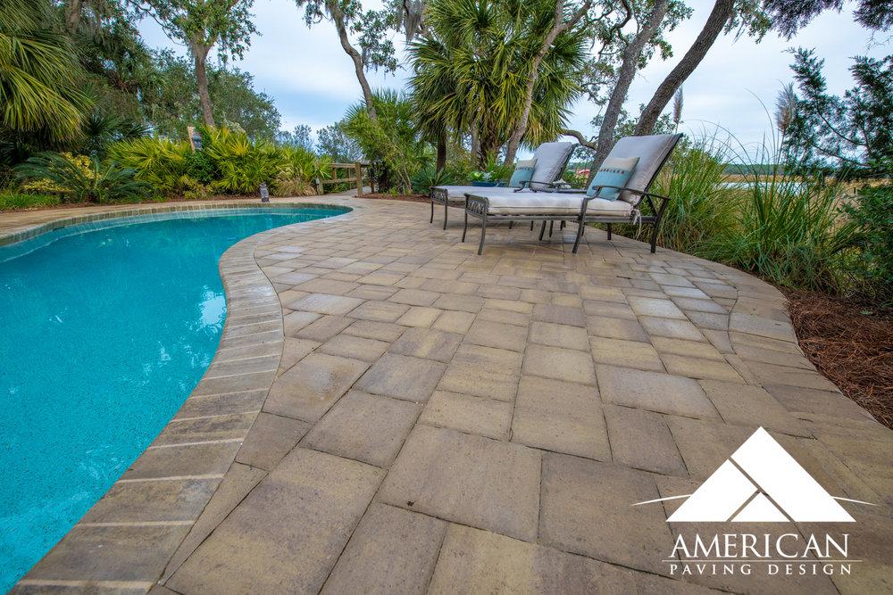 Pool Deck Remodel Paver Design