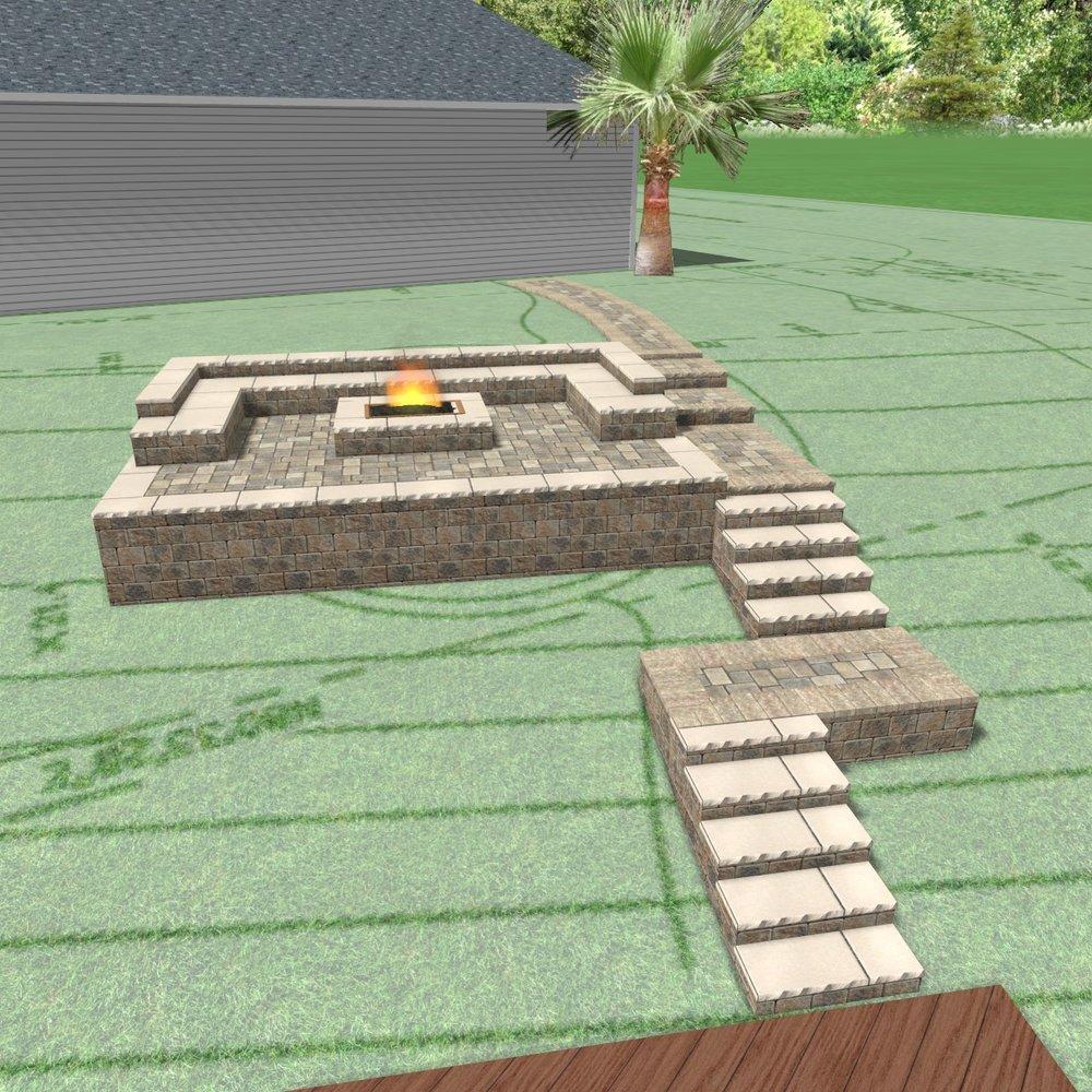 3D Paver Patio Design