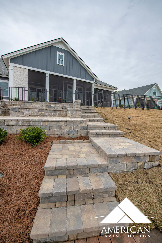 Brick Paver Step Design - Bluffton, SC