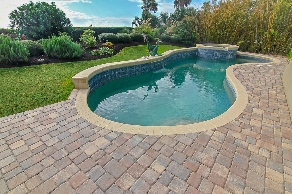 Paver Pool Deck Remodel With Thin Pavers - Hilton Head Island
