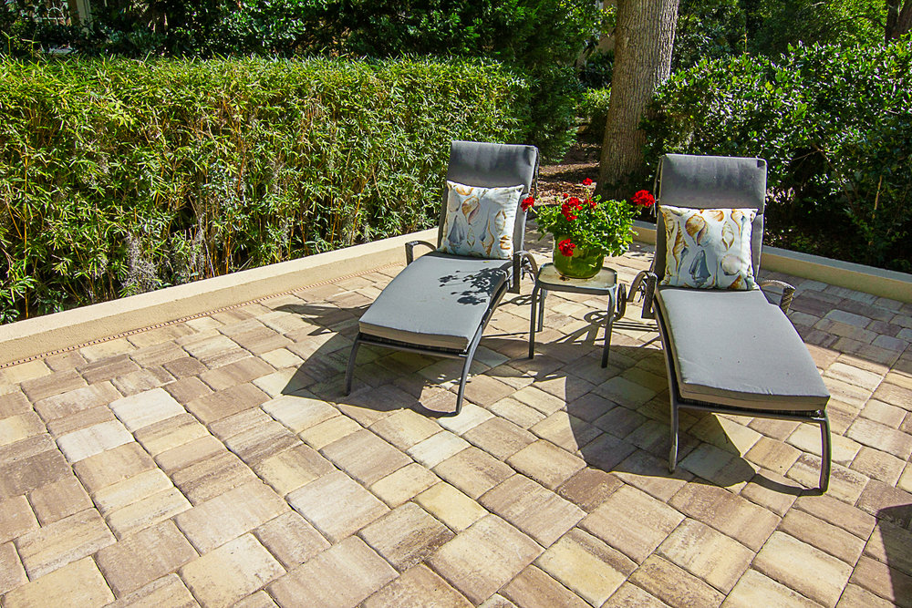 "Thin Paver Patio Overlay Using Tremron's 1"" Sand Dune, Remodel Paver - Hilton Head Island, South Carolina"