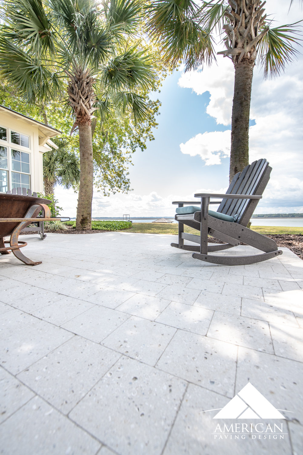 Recently installed in Colleton River, this  Tremron, Shellstone paver  looks prestine on this waterfront property!