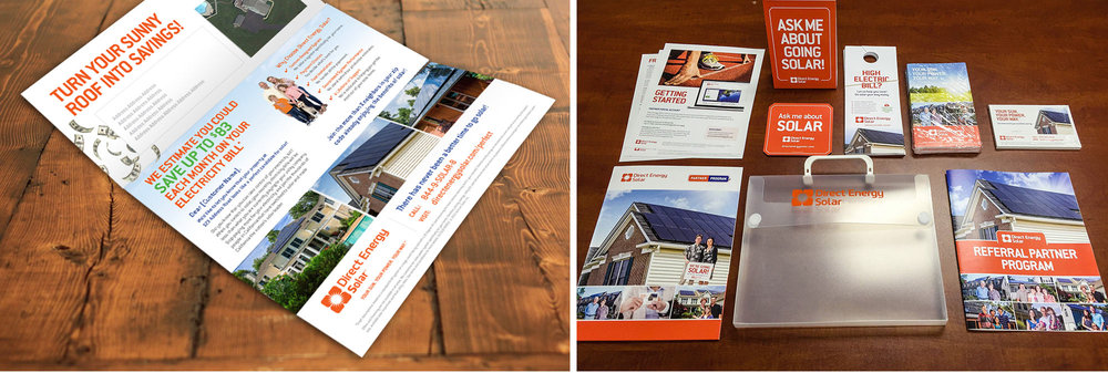 Direct mail flyer. Referral program welcome kit.
