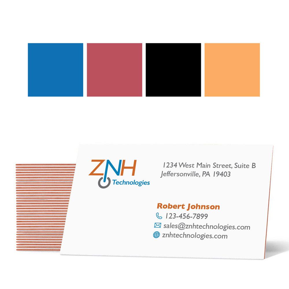 Color Stripe Business Cards
