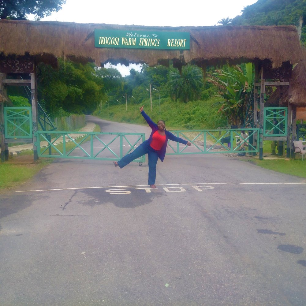 The exit gate of Ikogosi Resort