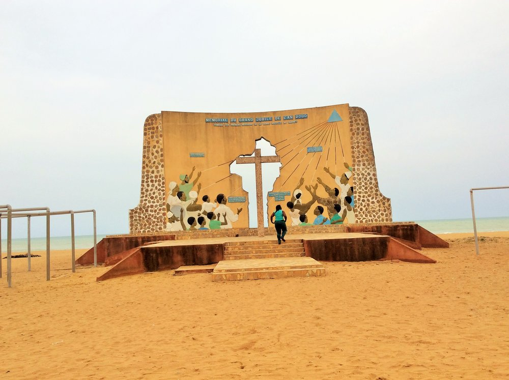 A Monument to celebrate 150 years of Catholic evangalism in Benin and Togo