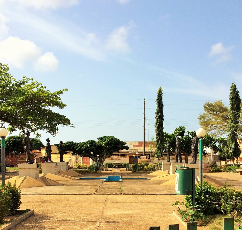 I saw this place on my way out of Benin Republic, but don't know what it is about. Looks like a memorial ground. Please drop a comment if you know.