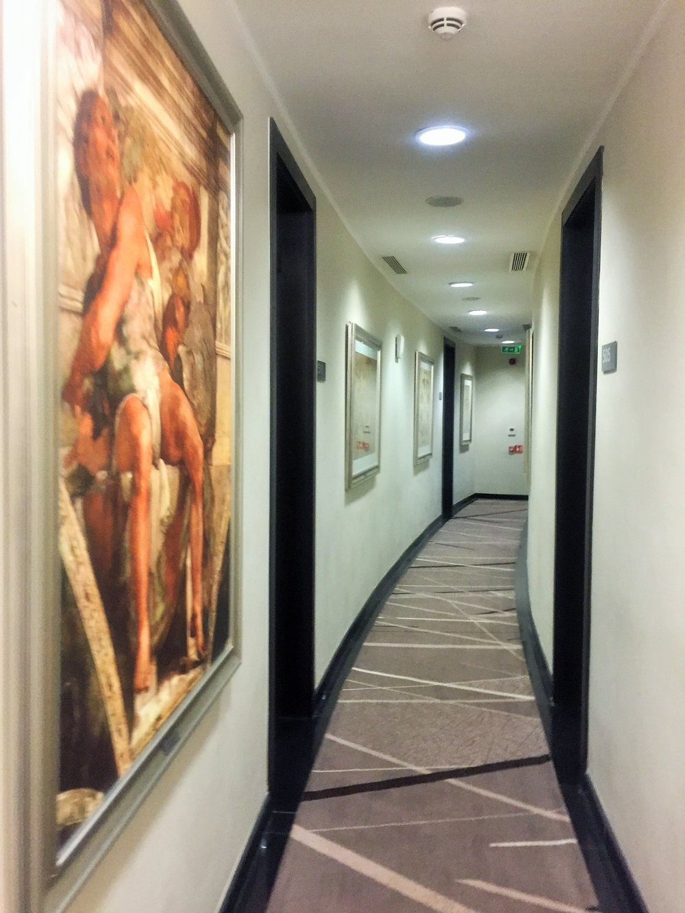 The corridor of the 5th floor